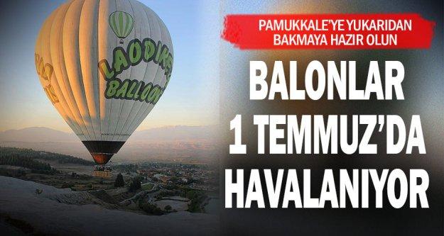 Balonlar 'beyaz cennetin' üzerinde uçmak için gün sayıyor