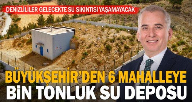 Büyükşehir'den 6 mahalle için bin tonluk su deposu