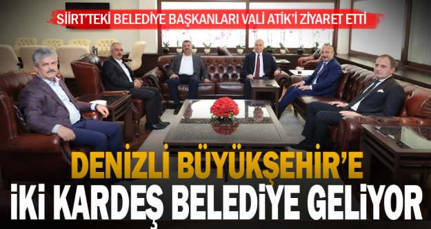 Büyükşehir'in Siirt'ten kardeş belediye başkanlarından Denizli'ye ziyaret