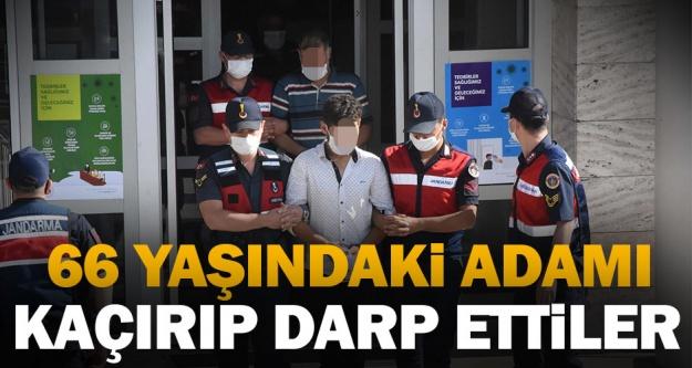 Denizli'de 66 yaşındaki adamı kaçırıp darp eden 3 kişi tutuklandı