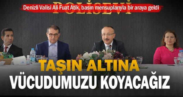 Denizli Valisi Ali Fuat Atik, basın mensuplarıyla bir araya geldi