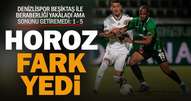 Denizlispor Beşiktaş'a farklı yenildi: 1 – 5
