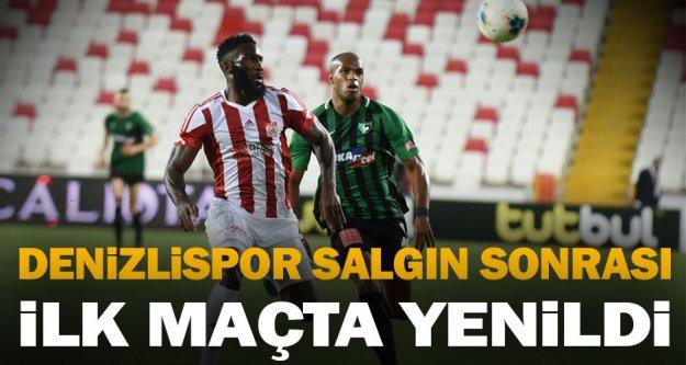 Denizlispor salgın sonrası ilk maçta, Sivasspor'a yenildi