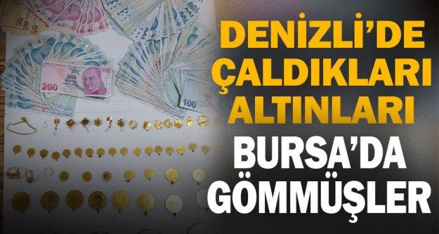 Dolandırdıkları 250 bin TL'lik altını Bursa'da toprağa gömmüşler