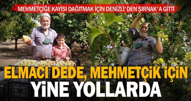 'Elmacı Dede' Mehmetçiğe kayısı dağıtmak için Denizli'den Şırnak'a gitti