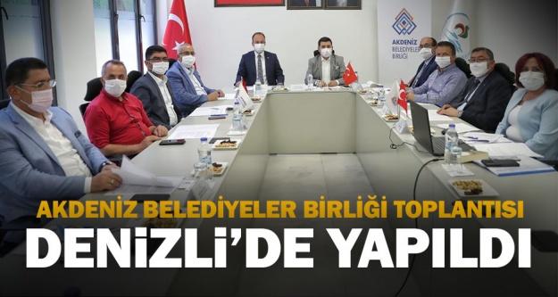 Pamukkale Belediyesi Akdeniz Belediyeler Birliği Encümen Toplantısına Ev Sahipliği Yaptı