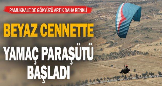 Pamukkale'de yamaç paraşütü uçuşları yeniden başladı