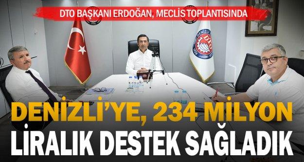 DTO Başkanı Erdoğan: Denizli'ye 234 milyon liralık destek sağladık