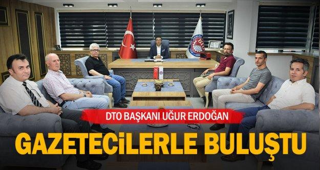 Gazetecilerden DTO Başkanı Erdoğan'a ziyaret