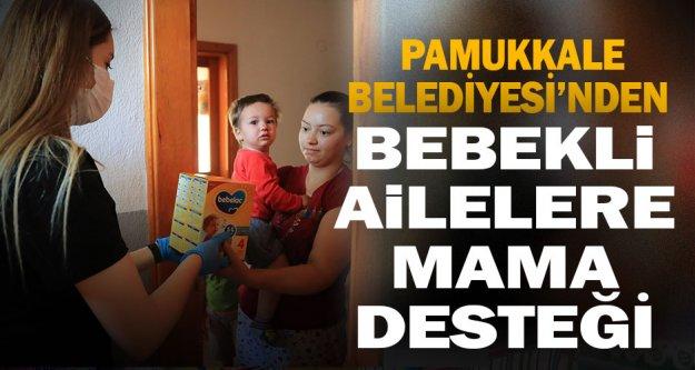 Pamukkale Belediyesi'nden bebekli ailelere mama desteği