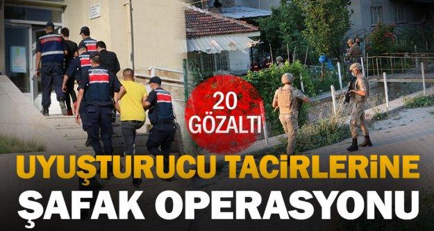 Uyuşturucu satıcılarına şafak operasyonu: 20 gözaltı