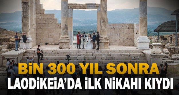 Başkan Örki Bin 300 Yıl Sonra Laodikeia'da İlk Nikahı Kıydı