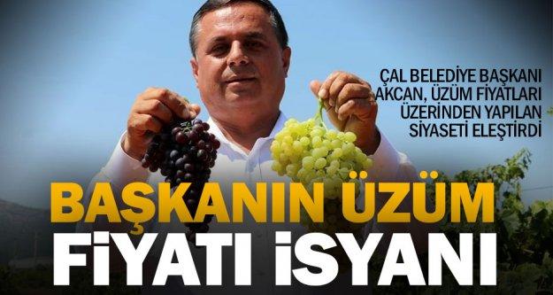 Çal'da üzüm fiyatı kavgası yaşanıyor