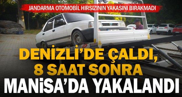 Denizli'de otomobil çalan zanlı Manisa'da yakalandı