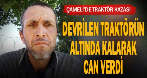 Denizli'de şarampole devrilen traktörün sürücüsü öldü