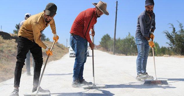 Güzelpınar'da sokaklar kilit beton parke taşı ile döşendi