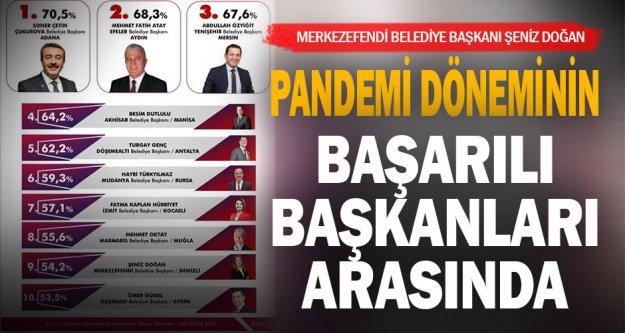 Pandeminin başarılı belediye başkanları arasında Merkezefendi Belediye Başkanı Şeniz Doğan da var