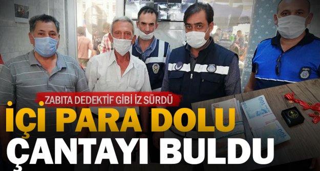 Sarayköy'de içi para dolu çantasını kaybeden yurttaş zabıta sayesinde çantasına kavuştu
