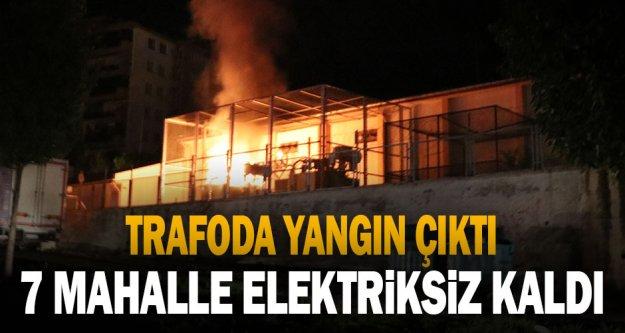 Trafo merkezinde çıkan yangın hasara yol açtı
