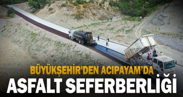 Büyükşehir'den Acıpayam'da asfalt seferberliği