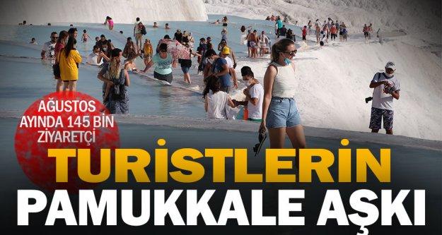 Pamukkale'yi ağustosta 145 bin kişi ziyaret etti