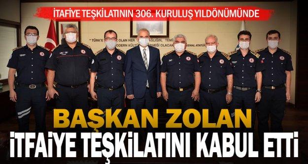 Başkan Zolan itfaiye teşkilatını kabul etti