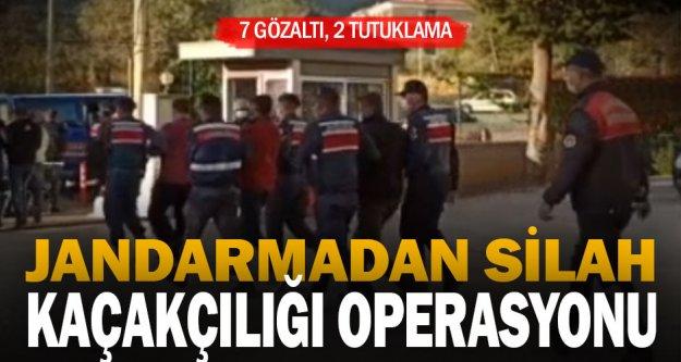 Jandarmadan silah kaçakçılığı operasyonu