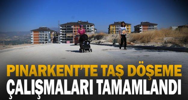 Pınarkent'te taş döşeme çalışmaları tamamlandı
