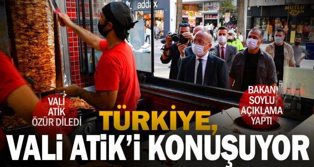 Türkiye'ye gündem olan Vali Atik özür diledi, Bakan Soylu açıklama yaptı