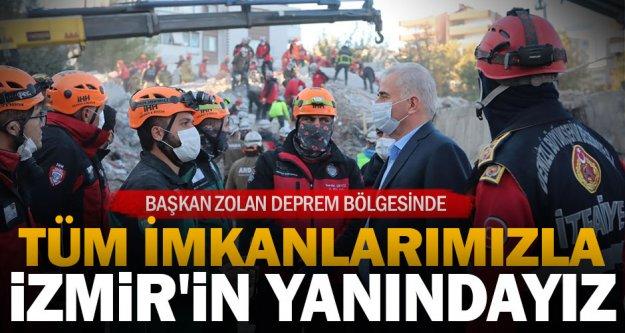 Denizli Büyükşehir Belediye Başkanı Osman Zolan, deprem bölgesinde