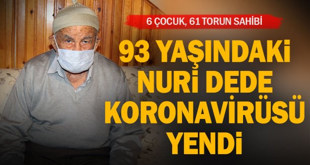 Denizli'de evinde Kovid-19 tedavisi gören 93 yaşındaki kişi sağlığına kavuştu