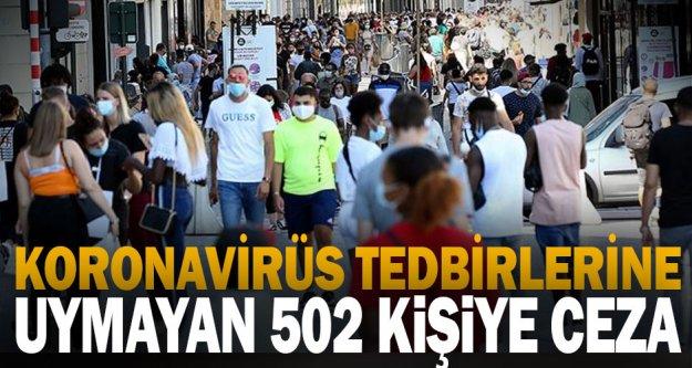 Denizli'de Kovid-19 tedbirlerine uymayan 502 kişiye ceza