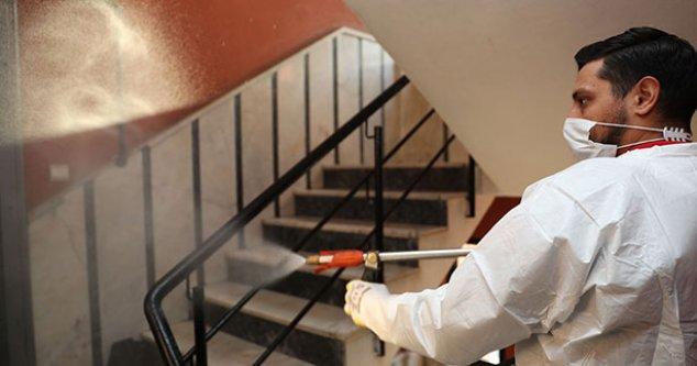Pamukkale Belediyesinin dezenfekte hizmetleri devam ediyor