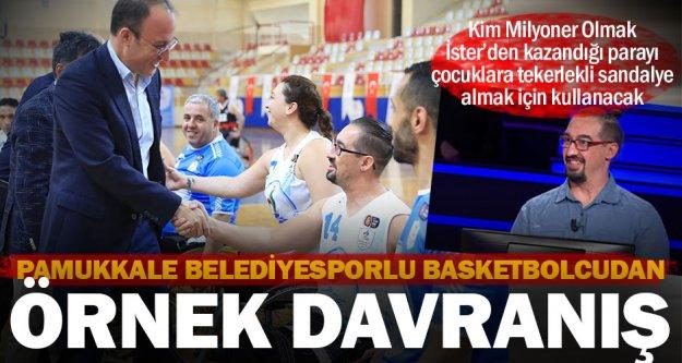 Pamukkale Belediyesporlu basketbolcudan örnek davranış