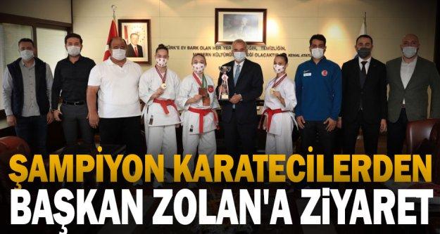 Şampiyon karatecilerden Başkan Zolan'a ziyaret