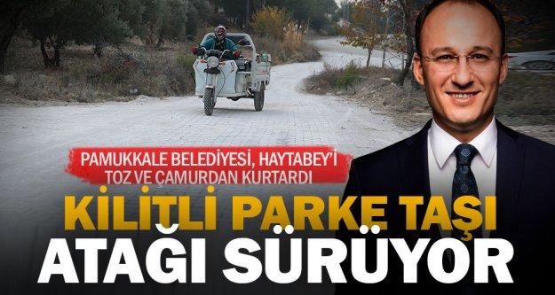 Pamukkale Belediyesi, Haytabey'i toz ve çamurdan kurtardı