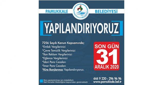 Pamukkale Belediyesi'nden yapılandırma imkânı