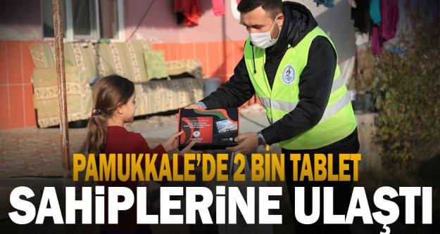 Pamukkale'de 2 bin tablet yerlerine ulaştı