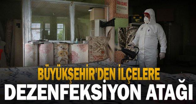 Büyükşehir'den ilçelerde de dezenfeksiyon atağı