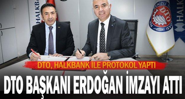 DTO, Halkbank ile Protokol Yaptı