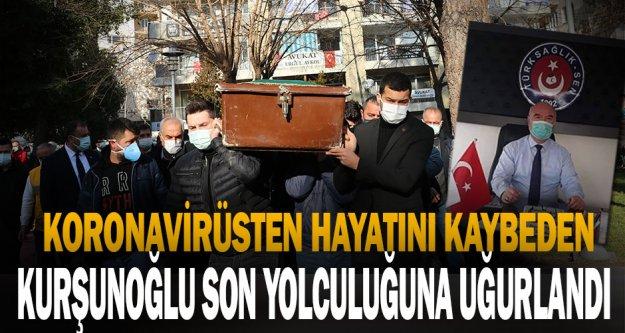Kovid-19'dan vefat eden Türk Sağlık-Sen Denizli Şube Başkanı Kurşunoğlu son yolculuğuna uğurlandı