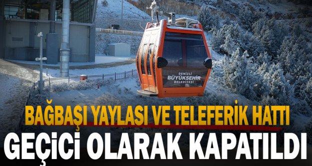 Bağbaşı Yaylası ve teleferik hattı geçici olarak kapatıldı
