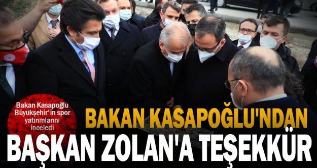 Bakan Kasapoğlu'ndan Başkan Zolan'a teşekkür