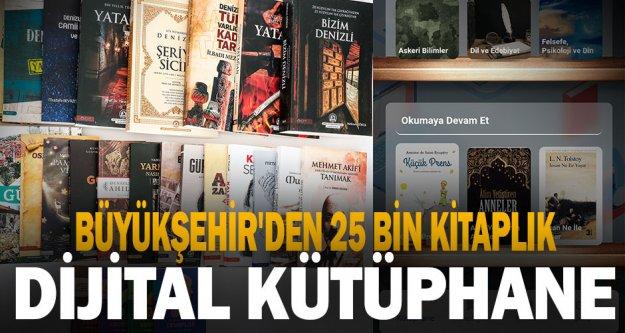 Büyükşehir'den 25 bin kitaplık dijital kütüphane geliyor