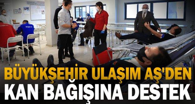 Büyükşehir Ulaşım AŞ'den kan bağışına 5. kez destek