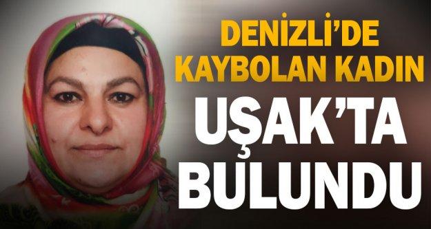 Denizli'de kaybolan 60 yaşındaki kadın Uşak'ta bulundu