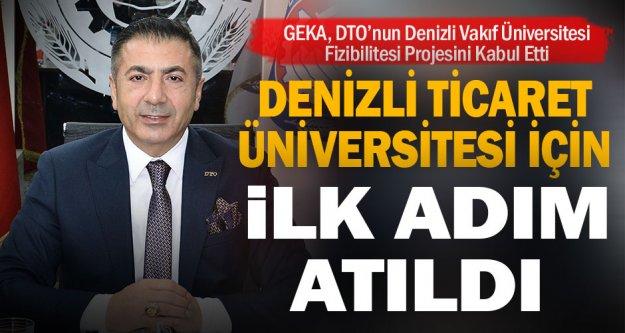 GEKA, DTO'nun Denizli Vakıf Üniversitesi Fizibilitesi Projesini Kabul Etti