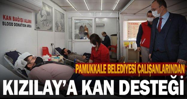 Pamukkale Belediyesi Çalışanlarından Kızılay'a Kan Desteği