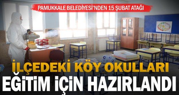 Pamukkale Belediyesi okulları dezenfekte etti