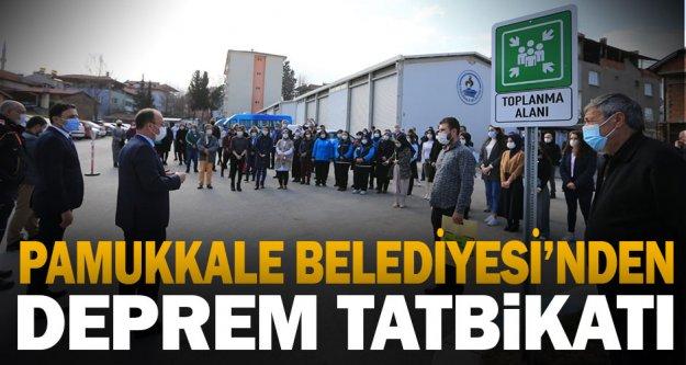 Pamukkale Belediyesi'nden deprem tatbikatı